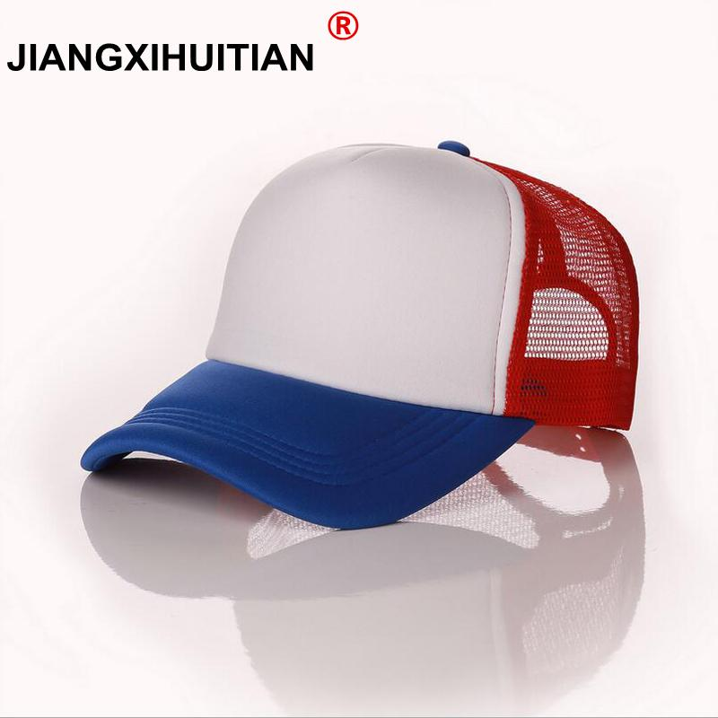c245895fca3ed New Dustin Stranger Things Dustin Baseball Cap Hat 100%Copy Cosplay Coser  Summer Snapback Mesh Net Trucker Hat Cap Men Neweracap Cap Hat From Turban