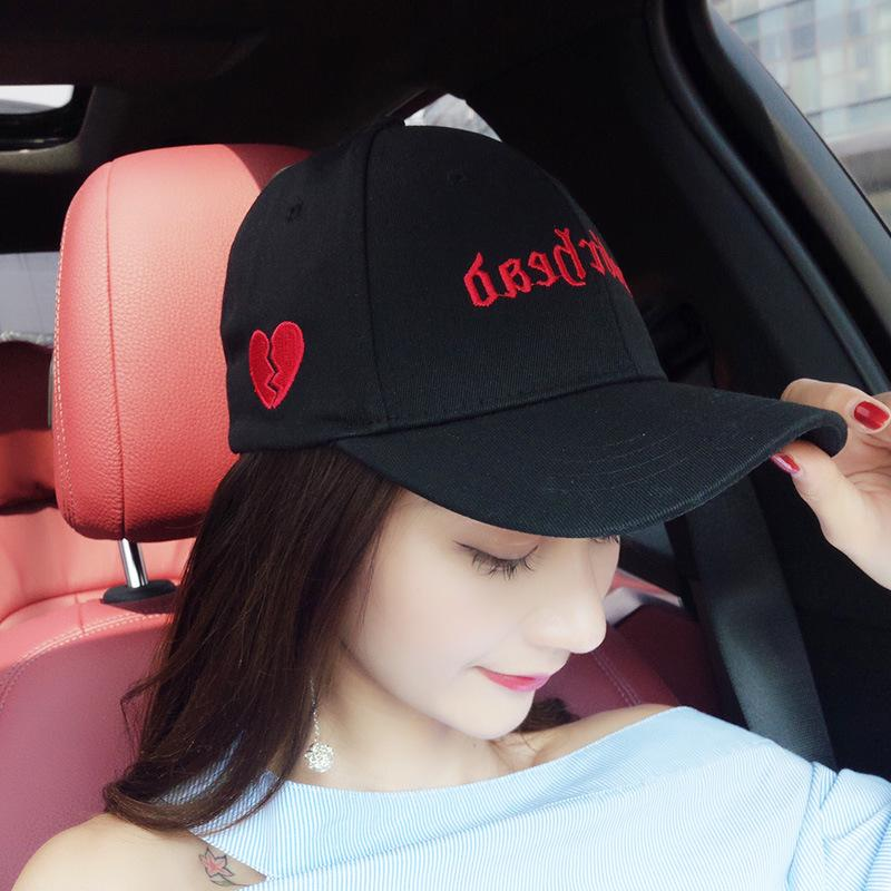 AUCALVI Hat Woman Summer Korean Baseball Cap Autumn Letter Sweet Love  Sunshade Caps Baseball Hats Newsboy Cap From Melontwo 1f3c47e0246