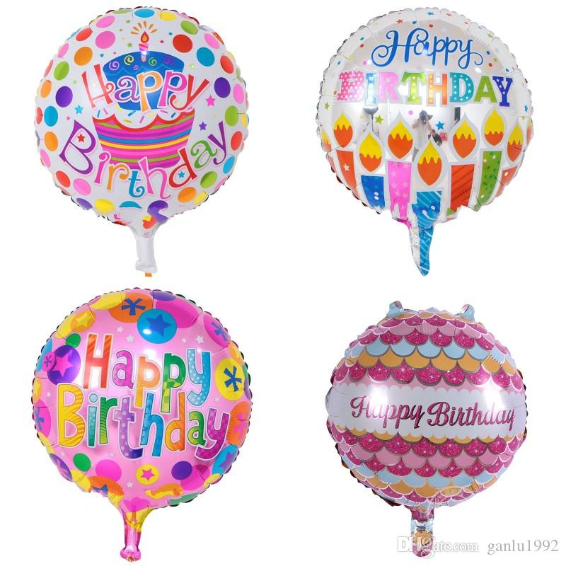 18 Inch Metallic Balloons Happy Birthday Party Decorations Children Inflatable Toy Balloon High Quality Multi Patterns 0 6lm WW 18th Helium Ballon