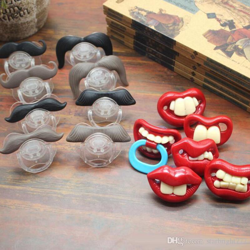 Tétine bébé dents mignon drôle Barbe Mustache bébé Sucette orthodontiques Dummy jouets de confort infantile gel Nipples silice nourrisson Pacifier