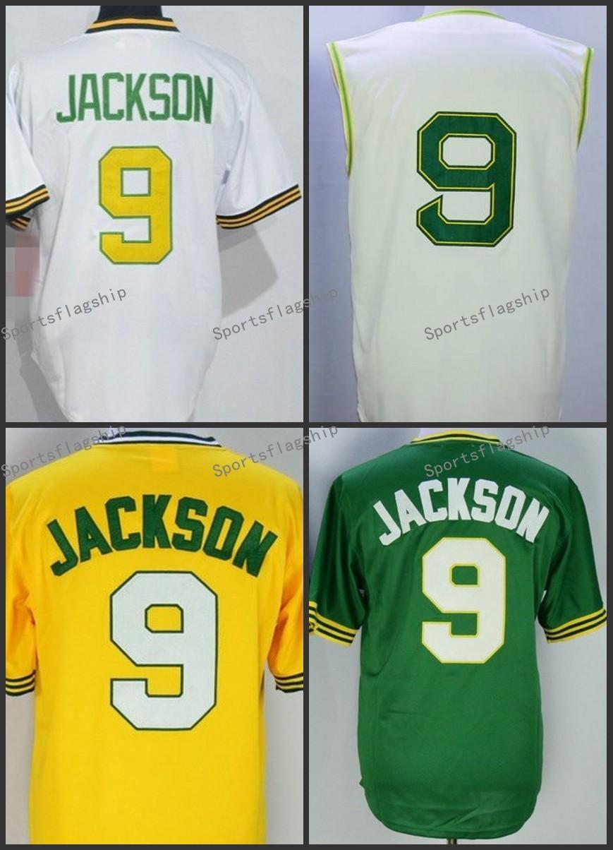 fd1d286b womens oakland athletics authentic green alternate 1 cool base jersey  reggie jackson; 9 reggie jackson throwback jersey cooperstown 1968 jerseys  cream ...