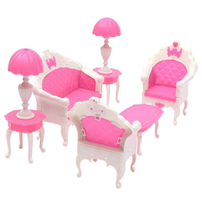 Cute Lovely Dollhouse for Barbie Doll Furniture Playset Living Room ...