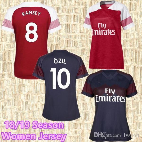 4960854b5 ... low price women jersey arsenal 2018 home soccer jersey 2019 arsenal ozil  lacazette alexis giroud xhaka