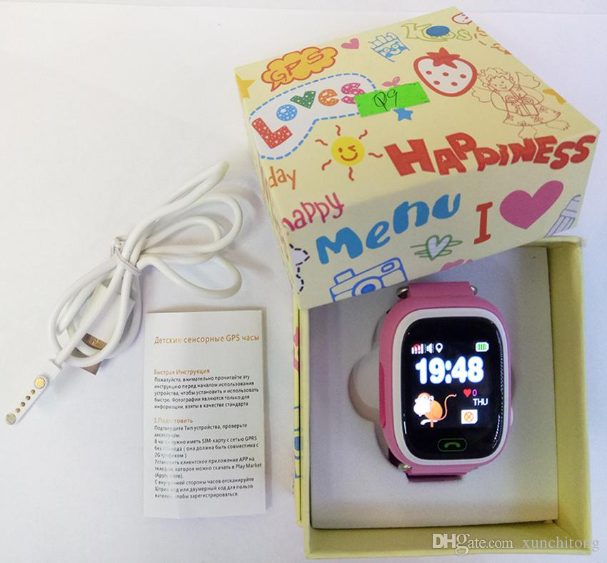 Q90 GPS Phone Positioning Fashion Children Watch 1.22 Inch Color Touch Screen WIFI SOS Smart Watch R9