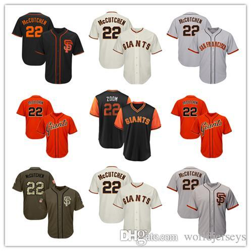 newest 91798 af35b Mens Giant Baseball Jerseys Gray Grey Cream Orange Black Green Salute to  Service Players Weekend All Star