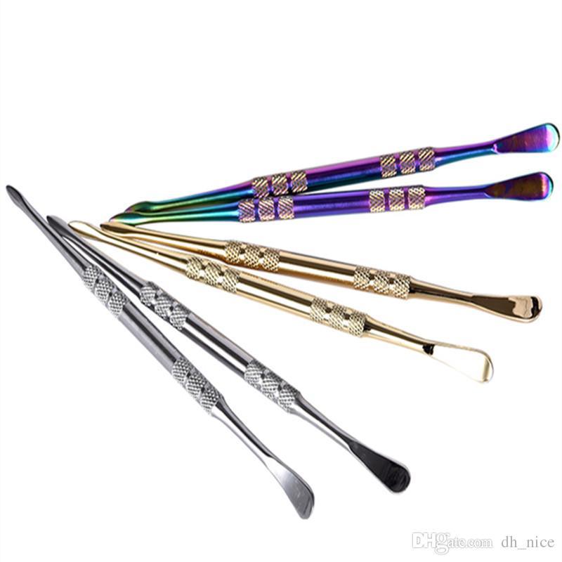 oro argento arcobaleno cera dabbers Dabbing strumento bastone metallo secco erba dabber strumento dab olio rig