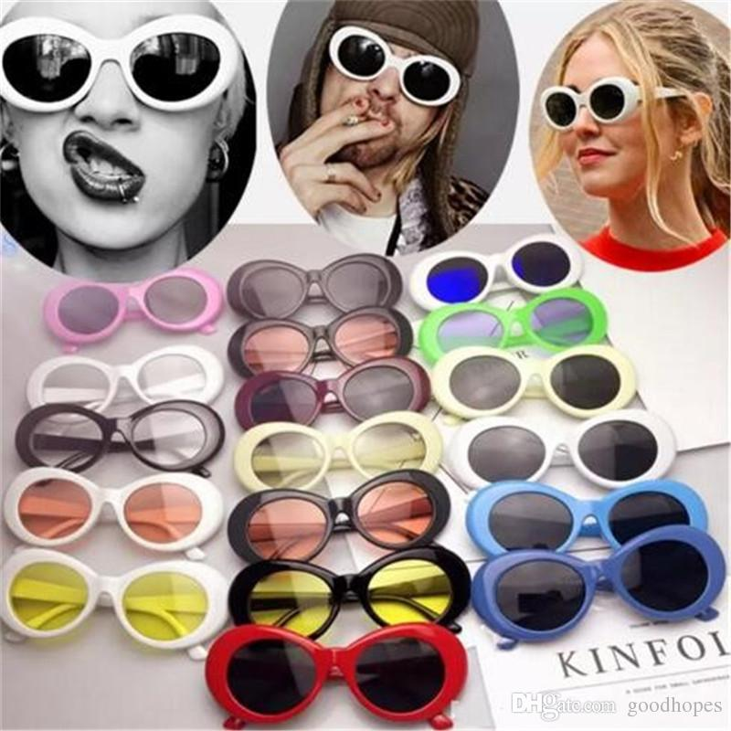 c92b4f30ad Clout Goggles NIRVANA Kurt Cobain Sunglasses Retro Vintage Oval Alien Sunglass  Unisex Punk Rock Glasses Eyewear Police Sunglasses Serengeti Sunglasses  From ...
