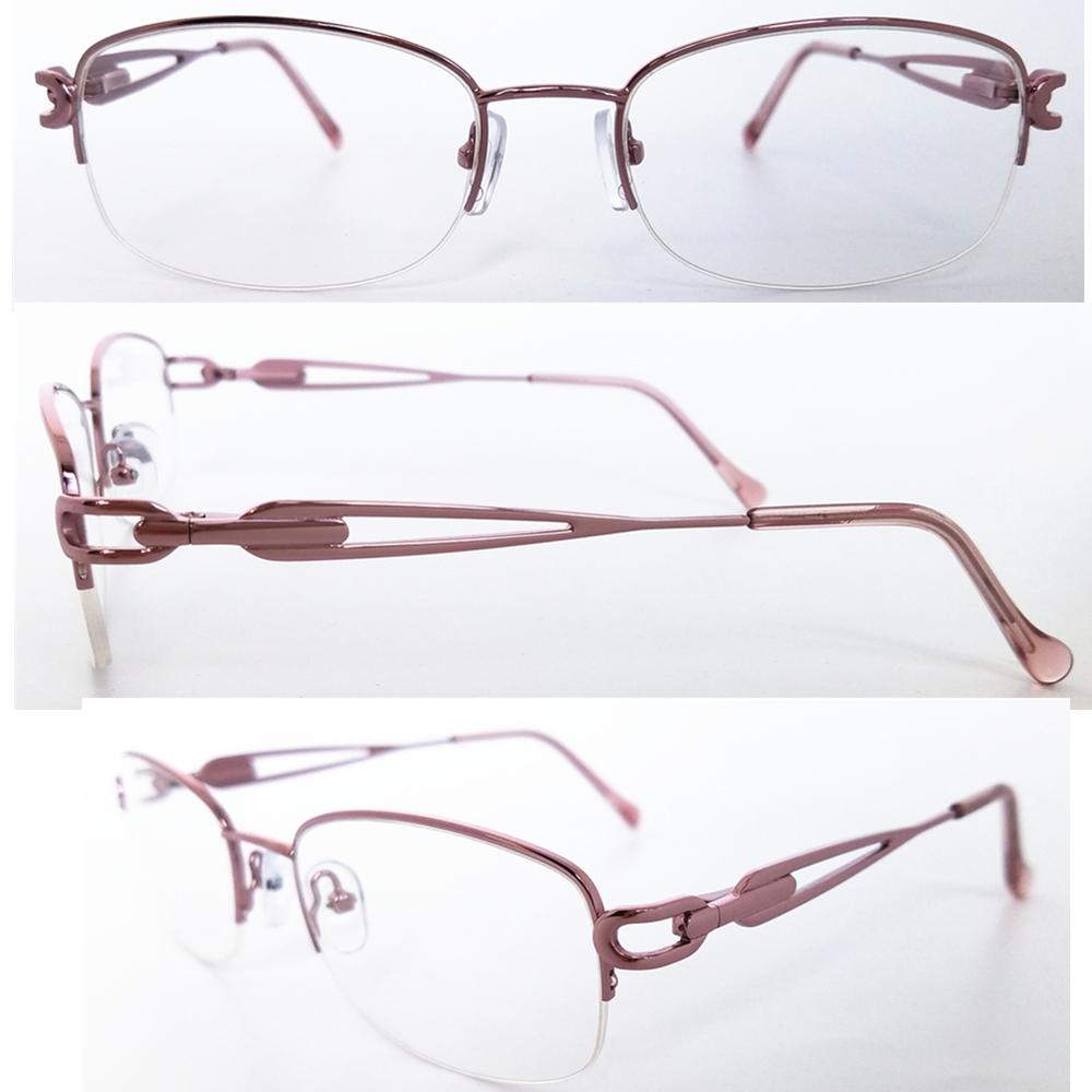 eaaa82d8f3e8 2019 Metal Half Rim Optical Frame For Women Eyeglasses With Case Optical  Frame Lady Fashion Eyewear With Clear Lens LM010 From Xiamenwatch