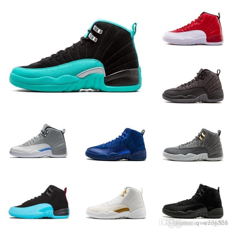 f14d63f731591a 2018 Cheap 12 Bordeaux Dark Grey Wool Basketball Shoes White Flu ...