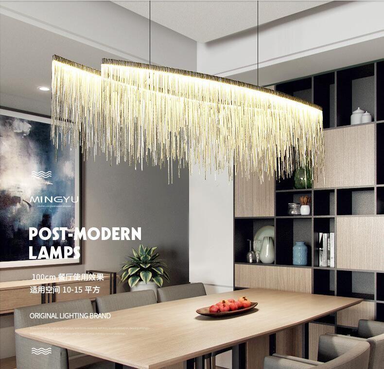 Led modern chandelier lighting tassel design indoor chandelier light hanging pendant light hotel - Moderne kronleuchter ...