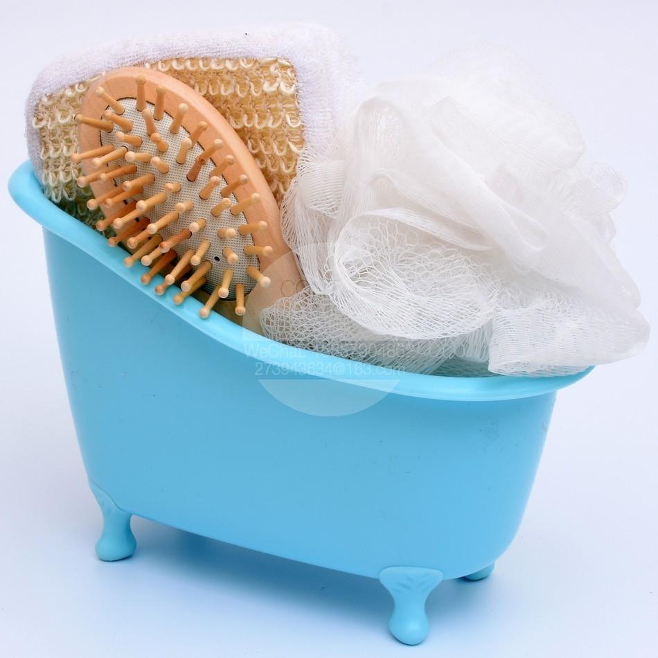 2018 New Bathtub Bath Set Bath Sponge Wooden Comb Sets Bathtub ...