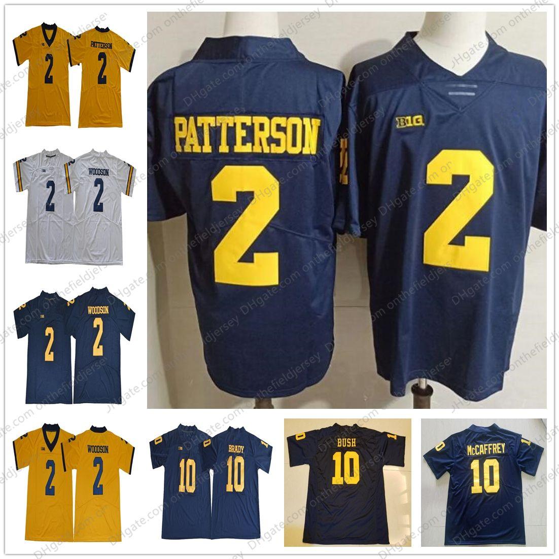 642bf94cb Cheap Michigan Wolverines  10 Dylan McCaffrey 10 Devin Bush 10 Tom Brady 2  Shea Patterson 2 Carlo Kemp 2 Oliver Martin NCAA Football Jerseys S-3XL