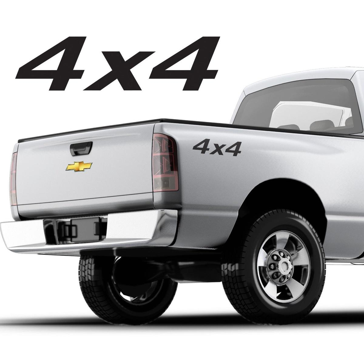 For (2Pcs)4x4 Truck Bed Decals, Simple design for any pickup truck SET OF 2 Chevy, F-150