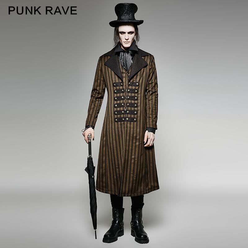 Großhandel Punk Rave Gothic Herren Steampunk Visual Kei Viktorianischen  Streifen Langen Mantel Jacke Mode Y717 Von Candd,  234.07 Auf De.Dhgate.Com    Dhgate 61cf09a696