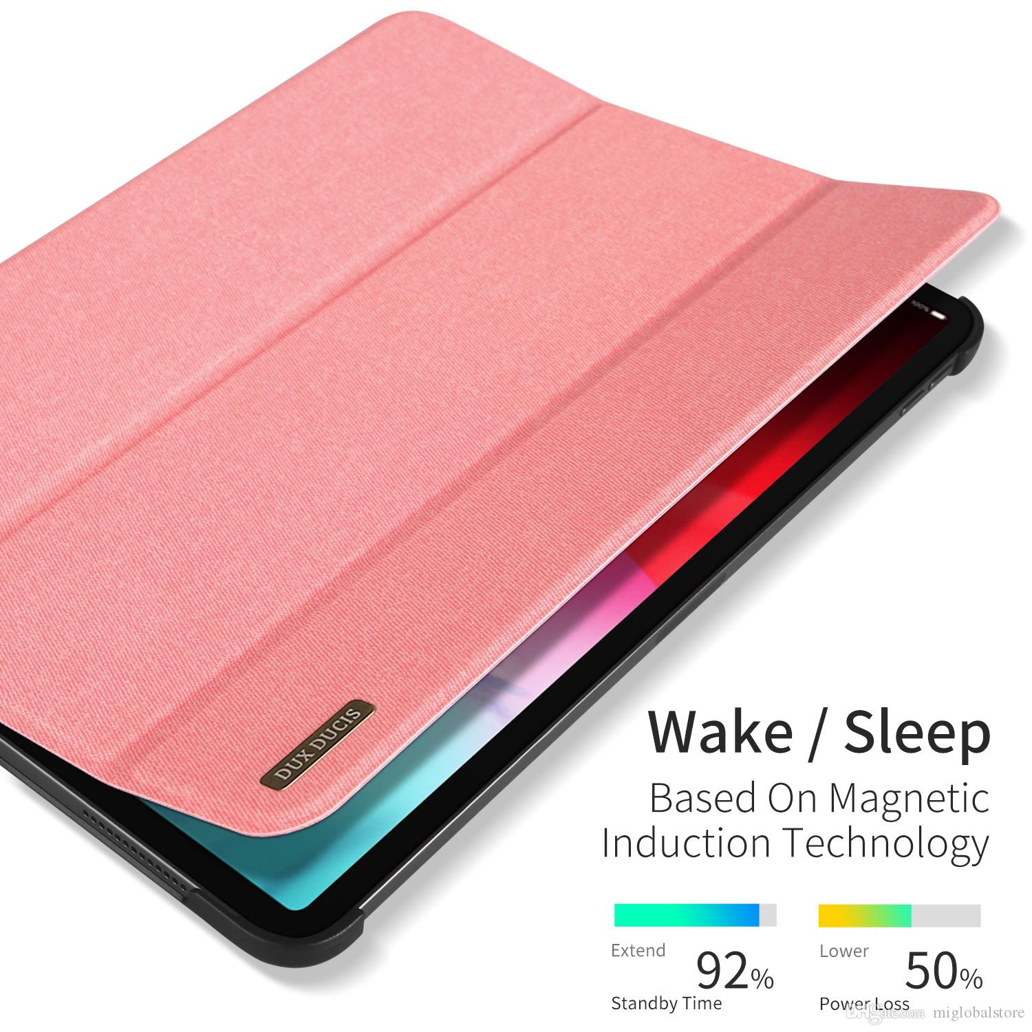 low priced 8856e 4c203 PU Leather Case for IPad Pro 11 inch Simplicity Cloth Smart Cover Folio  Stand Casual Style Case for iPad Pro 11 inch