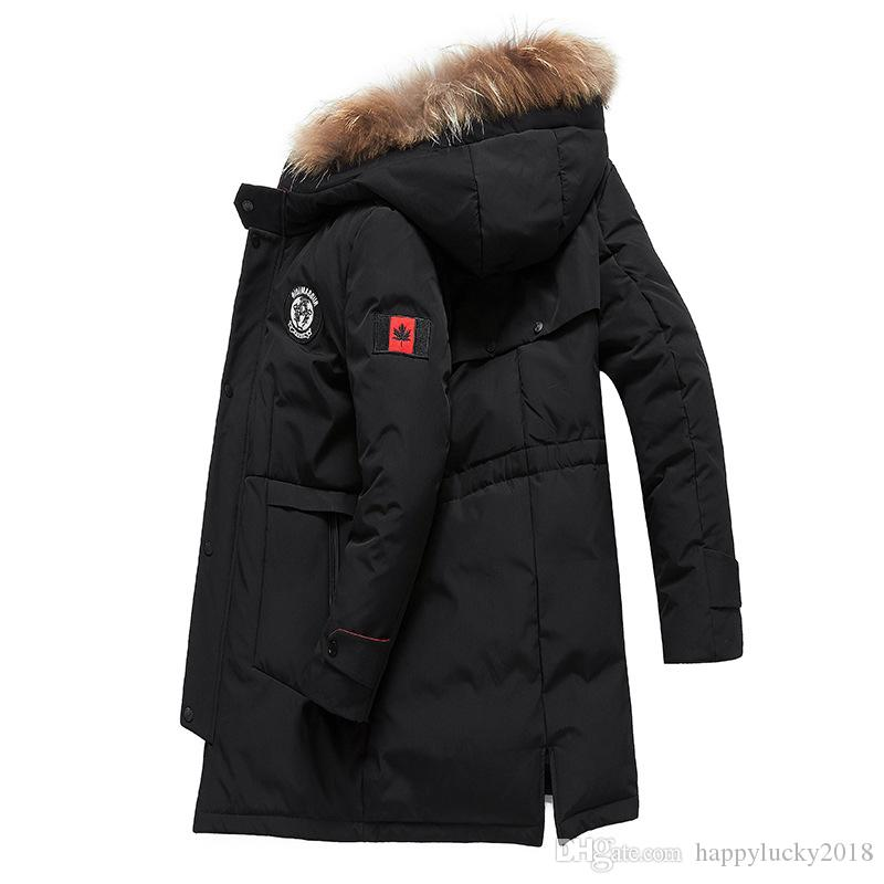innovative design 4628b 7d393 Kanadischer Wind Winter Daunenjacke Herren lange warme Daunenjacke