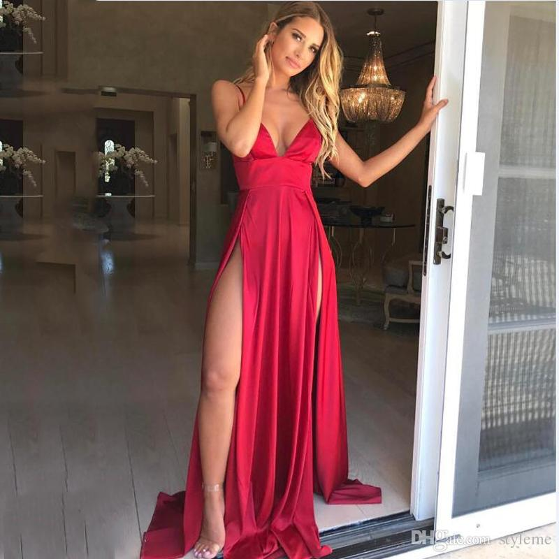 2019 Brand Designer Silk Backless Long Dress 2018 Summer