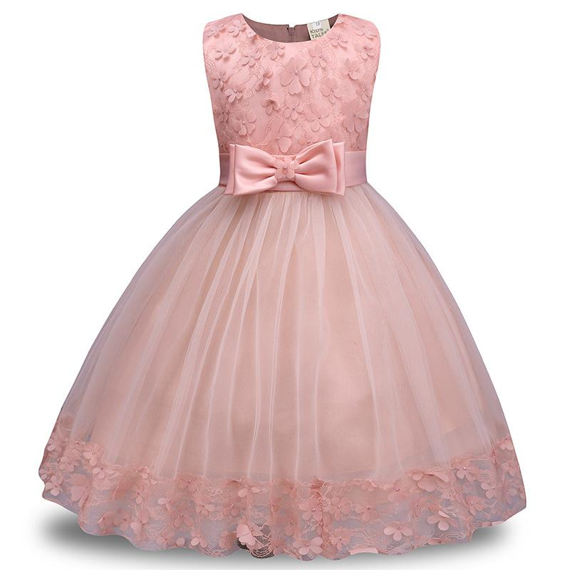 Girl Dress Girls Dresses Carters Sleeveless Lace Bowkont Solid Color ...