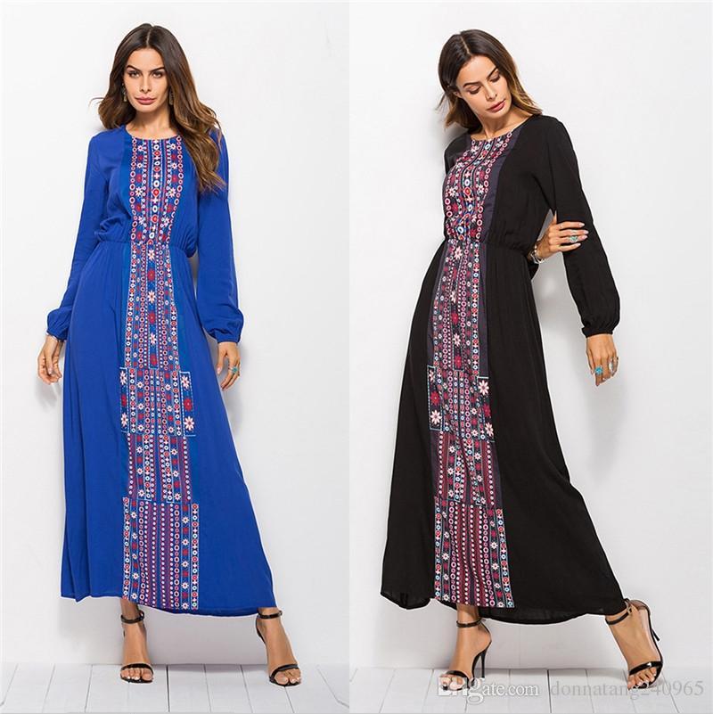 New Arrived Muslim Beautiful Abaya Dress Jubah Robe Arab Dubai Instant Ramadan  Arabic Turkish Islamic Prayer Clothing Summer Floral Dress Styles Dress From  ... ad8519908939