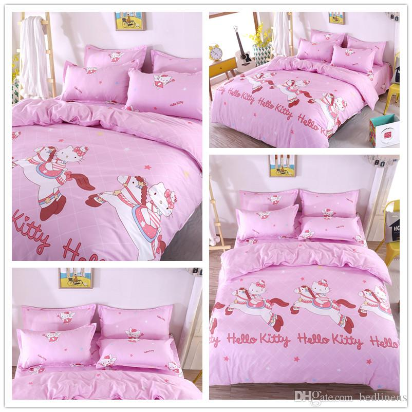 Elegant Duvet Cover Pillow Cases Single Twin Double Full Queen King Bedspreads Home Textiles Bed Linens Shark Horse Cat Plant Bed Cover