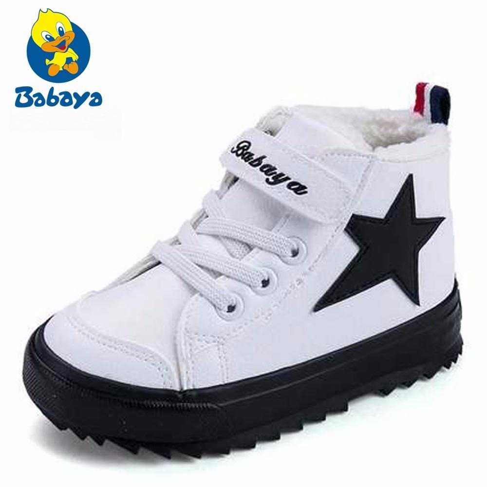 6a5072ef92939 Acheter Garçons Bottes D hiver Enfants Bottes De Neige Sport Enfants  Chaussures Pour Les Garçons Sneakers Mode 2018 New Leather Child Shoes  Taille 24 38 De ...