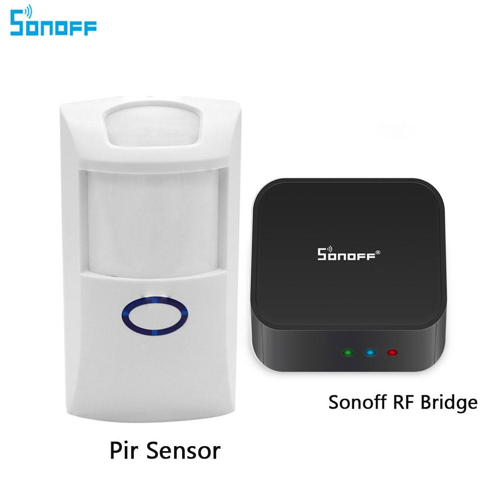 Sonoff RF Bridge 433 Wireless Wifi Signal Converter PIR Sensor For Smart  Home Automation Support IOS Android Remote Controller
