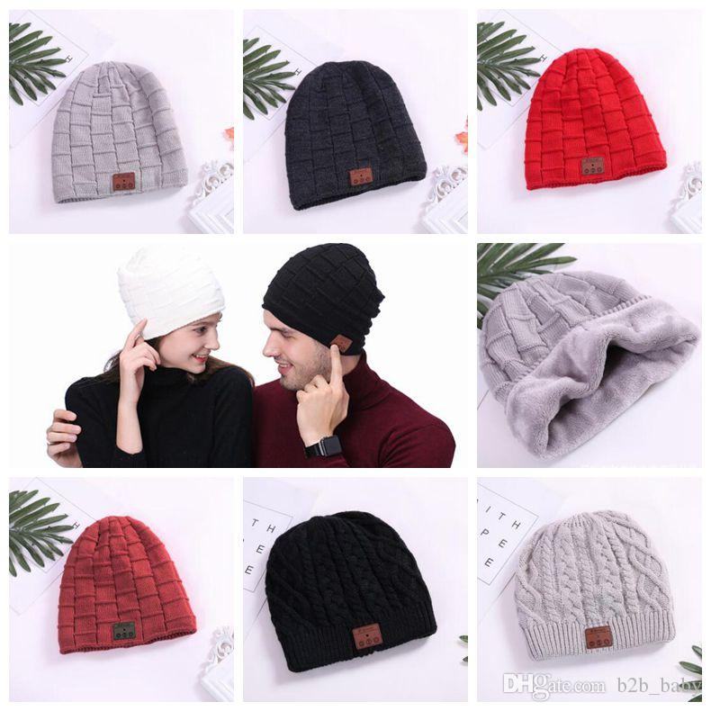 320c266fd5e 2019 Wireless Bluetooth Beanies Sport Music Hat Smart Headset Cap Warm  Winter Hat With Mic Speaker For All Smart Phones CCA8866 From B2b baby