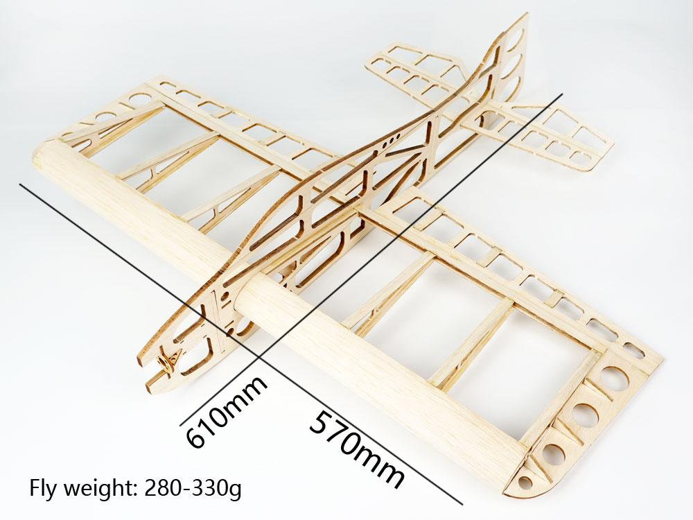 Free Shipping Balsa Wood Airplane Model Sunday 610mm Wingspan (Balsa KIT)  Laser Cut Building RC Toys Woodiness model /WOOD PLANE