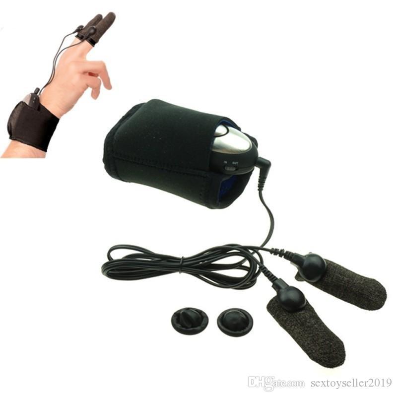 Électro choc thérapie gants d'amour électro doigt ensembles ensembles sex toys pour couples adulte jeu pénis de massage mammaire stimulation clitoridienne