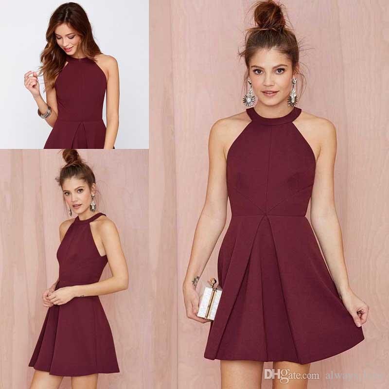 Burgundy Prom Dress High Quality Wine Red Short Special Occasion ...
