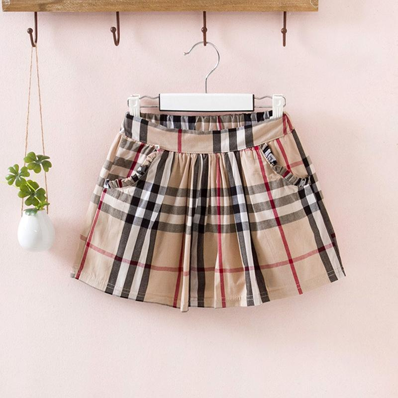 England-Art-Sommer-Baby-Kleid-klassisches schwarzes weißes Plaid-Patchwork-Frühlings-Mädchen-Prinzessin Dresses Sleeveless Girl Dress