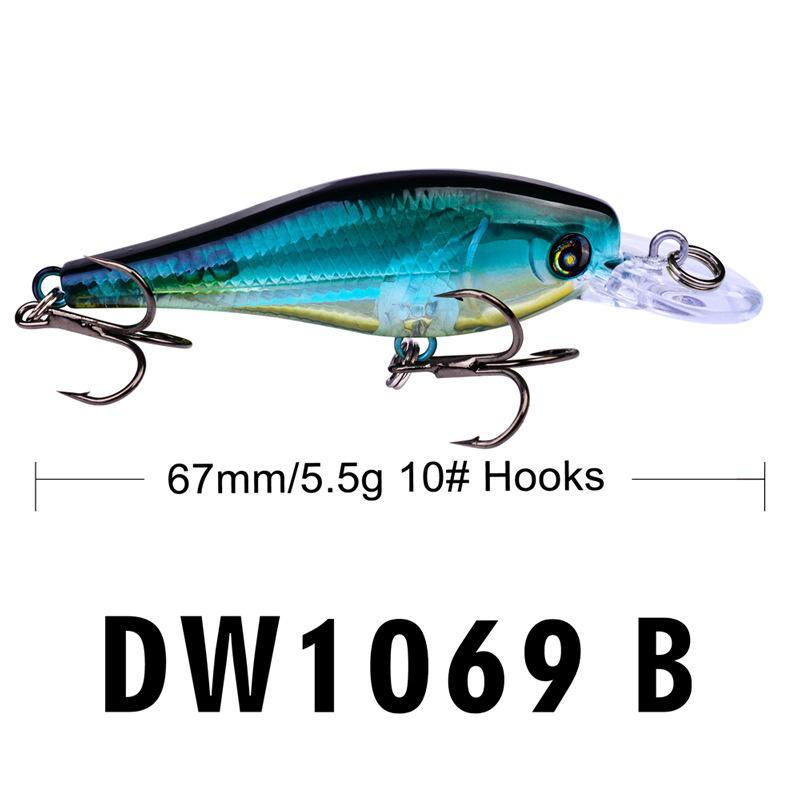Вода снайпер лазер воблер рыболовные крючки 6.7 см 5.5 г плавающей плавание гольян воблер кальмар бас приманки