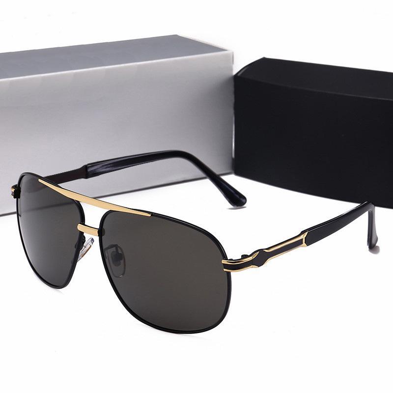 3a363514b66 Luxury Brand Designer Sunglasses for Men UV400 Polarized Metal Frame ...