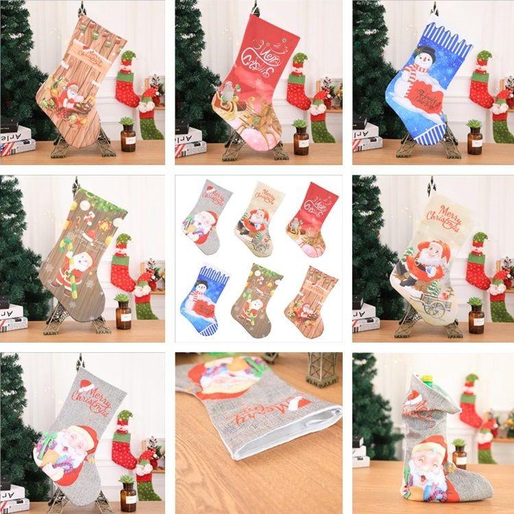 Großhandel Weihnachten New Style Strümpfe Kamin Dekorationen ...