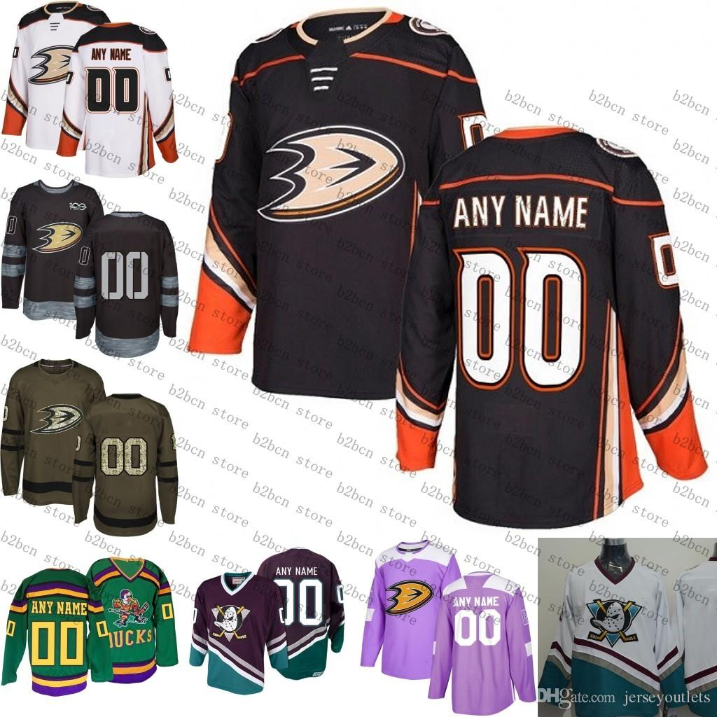 new style 553d2 b6536 2018 Customized Men s Women Anaheim Ducks Custom Any Name Any Number Ice  Hockey Jersey,Authentic Jersey Accept Mix Order size S-3XL