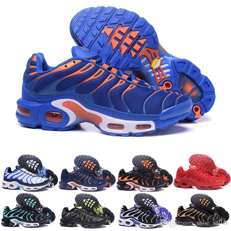 1707131fabf 2018 Top Cheap Tns Plus Air Mens Womens Shoes Rainbow Green TN Ultra Sports  Requin Sneakers Air Caushion Running Shoes Chausseures 36-46 Running Shoes  Tn Tn ...