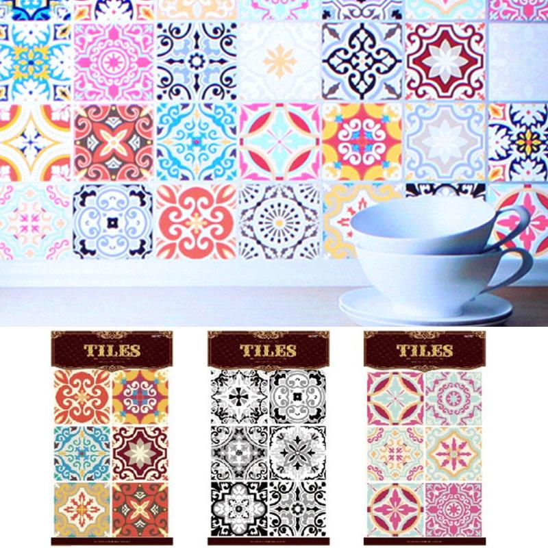 30*45cm Morocco European Style Stereo Classical Pattern Wall Stickers Kitchen Adhesive Tile Sticker Home Decor Supplies 7A1209