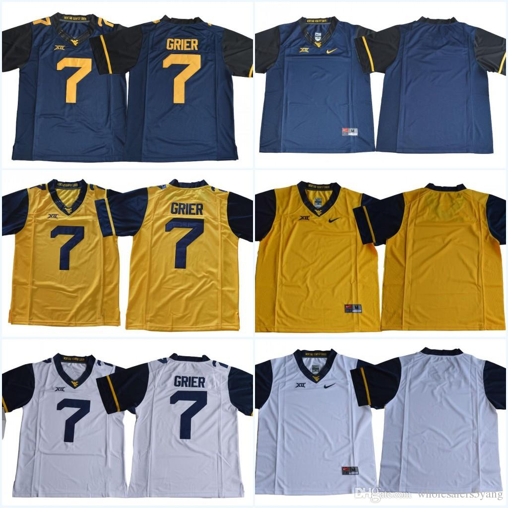 ... new zealand west virginia mountaineers youth 7 will grier kids 13 david  sills v blue gold 8be8924e8
