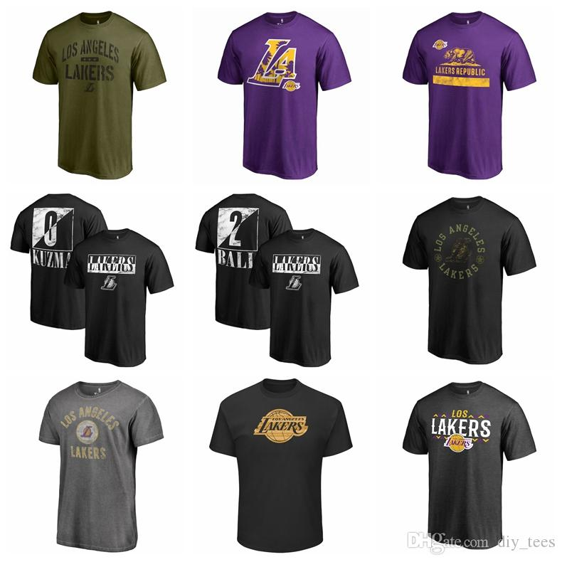 2018 New Los Angeles Lakers Lonzo Ball Basketball T Shirt Custom Name Men  Women Kid Shirt Marvel Black Panther King Of The Court T Shirt Buy Cool  Shirts ... 4a7cc6e33