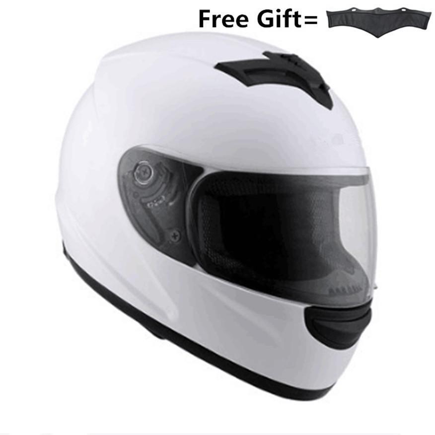 dd200adc74950 Compre Casco Integral De Motocicleta Casco Protector DOT Approved Racing  Con Visera Para Adultos
