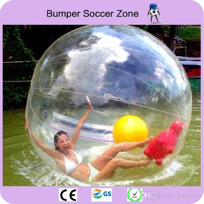 100% 0.8mm PVC Water Zorb Ball Water Polo Ball Inflatable Water Walking Ball 2M Diameter