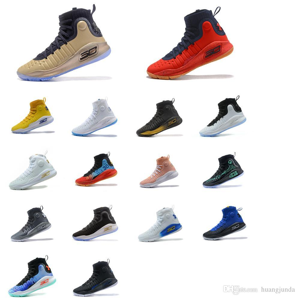 5ace36aa6e95 2019 Cheap 2018 New Mens UA Stephen Curry 4 IV High Tops Basketball Shoes  ways SC30 Sports Sneakers Boots With Original Box For Sale From Huangjunda