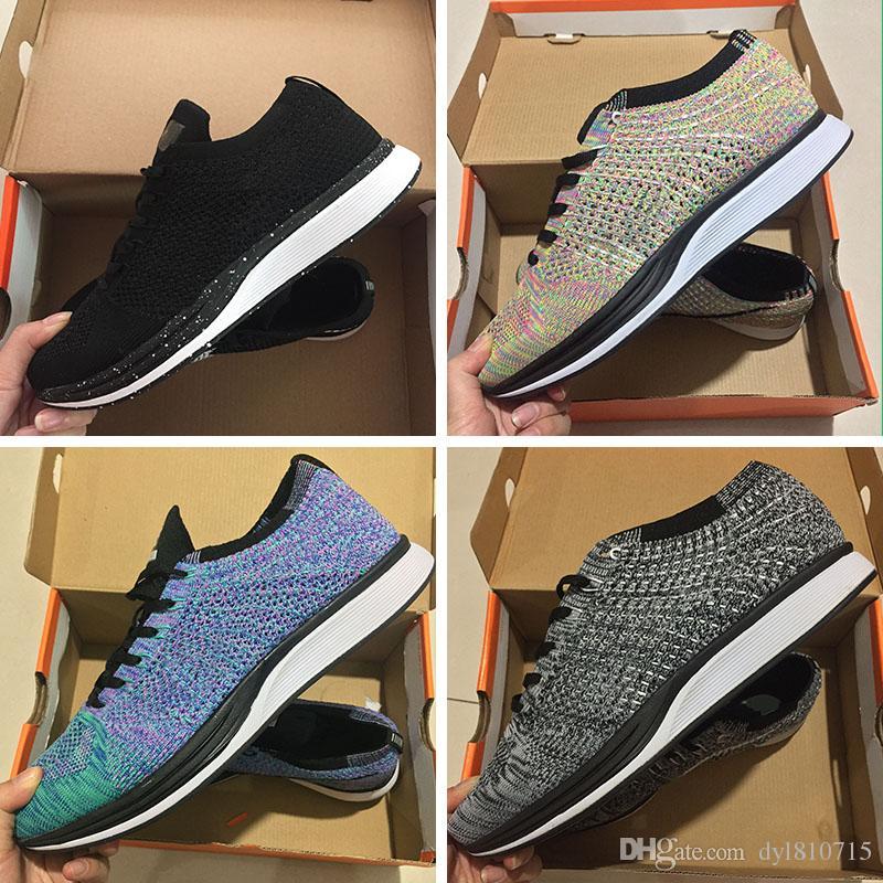 timeless design 7c427 7a996 Acheter Nike Air Zoom Mariah Flyknit Racer Id Fk Top Qualité Drop Livraison  Gratuite 90 Célèbre Coussin Hiver Bottes Hommes Wonen Racer Chaussures Air  ...