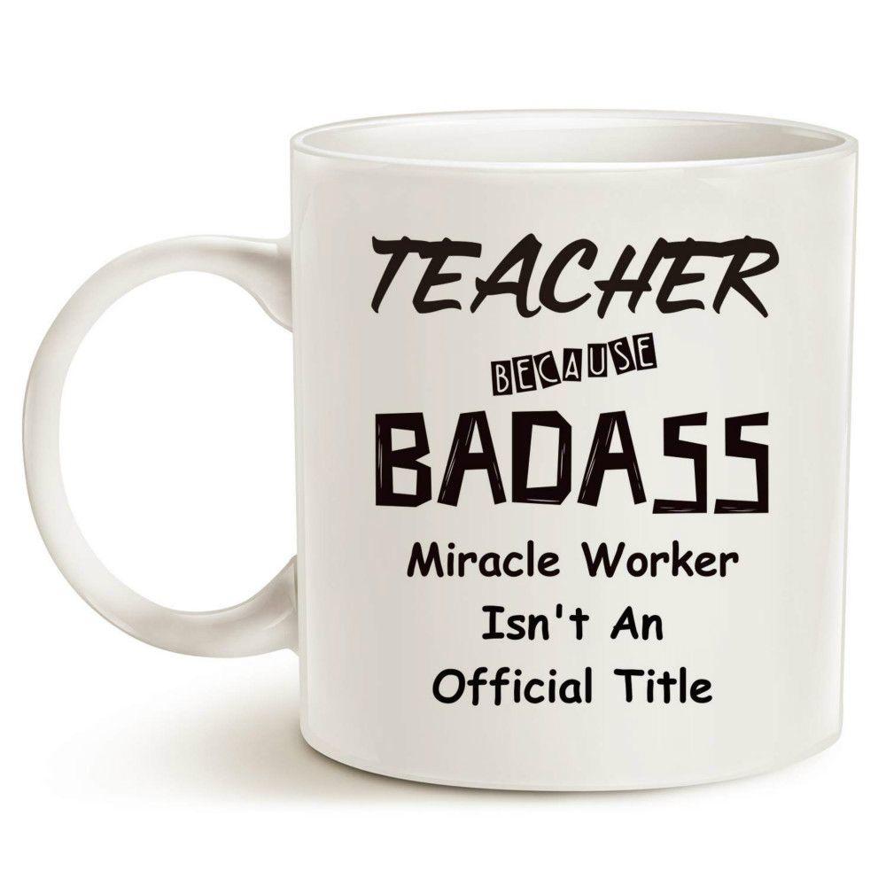 Christmas Gifts Funny Badass Teacher Coffee Mug Best Teachers\' Day ...
