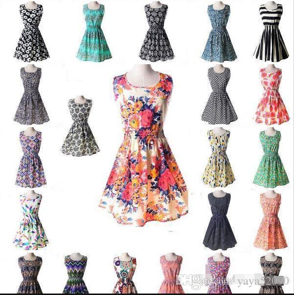2019 Newest Fashion Women Casual Dress Plus Size Cheap China Dress 19  Designs Women Clothing Fashion Sleeveless Summe Dress From Yaya52090 d766a10685f2