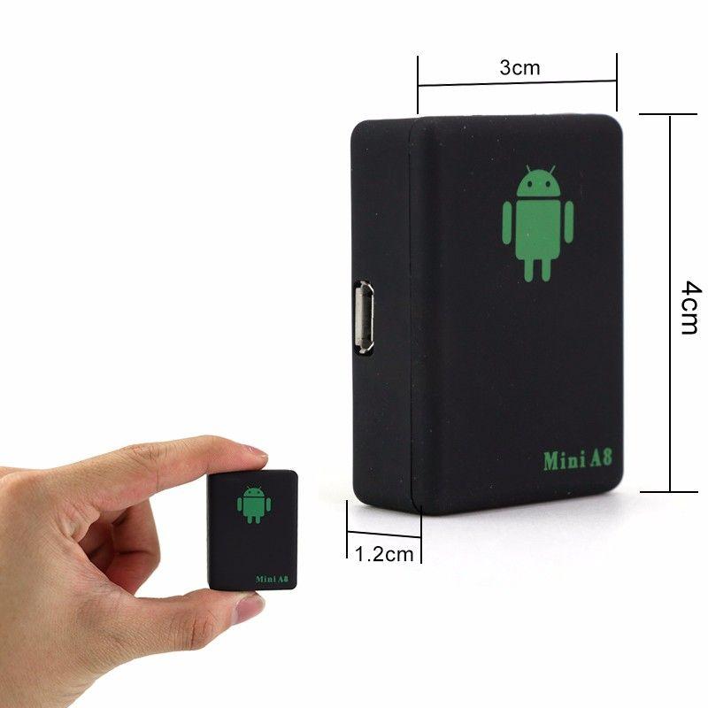 eClouds Perseguidor de Gps del coche de alta calidad A8 Mini GSM Tracker Dispositivo de seguimiento del tiempo global con el botón SOS Perseguidor de los niños GSM / GPRS / LBS