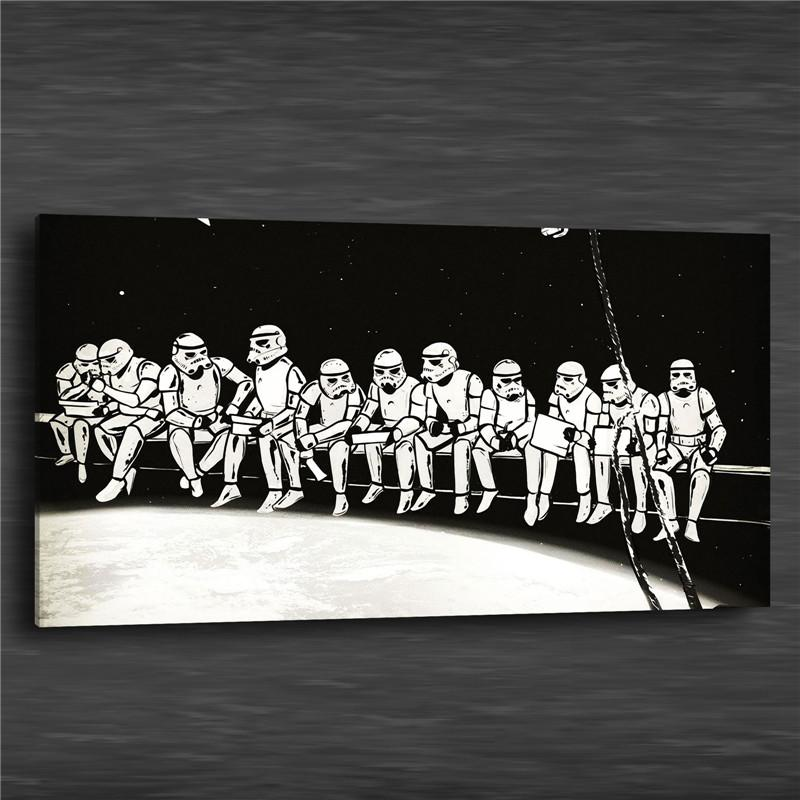 2018 Wars Outer Space,Canvas Prints Wall Art Oil Painting Home Decor ...