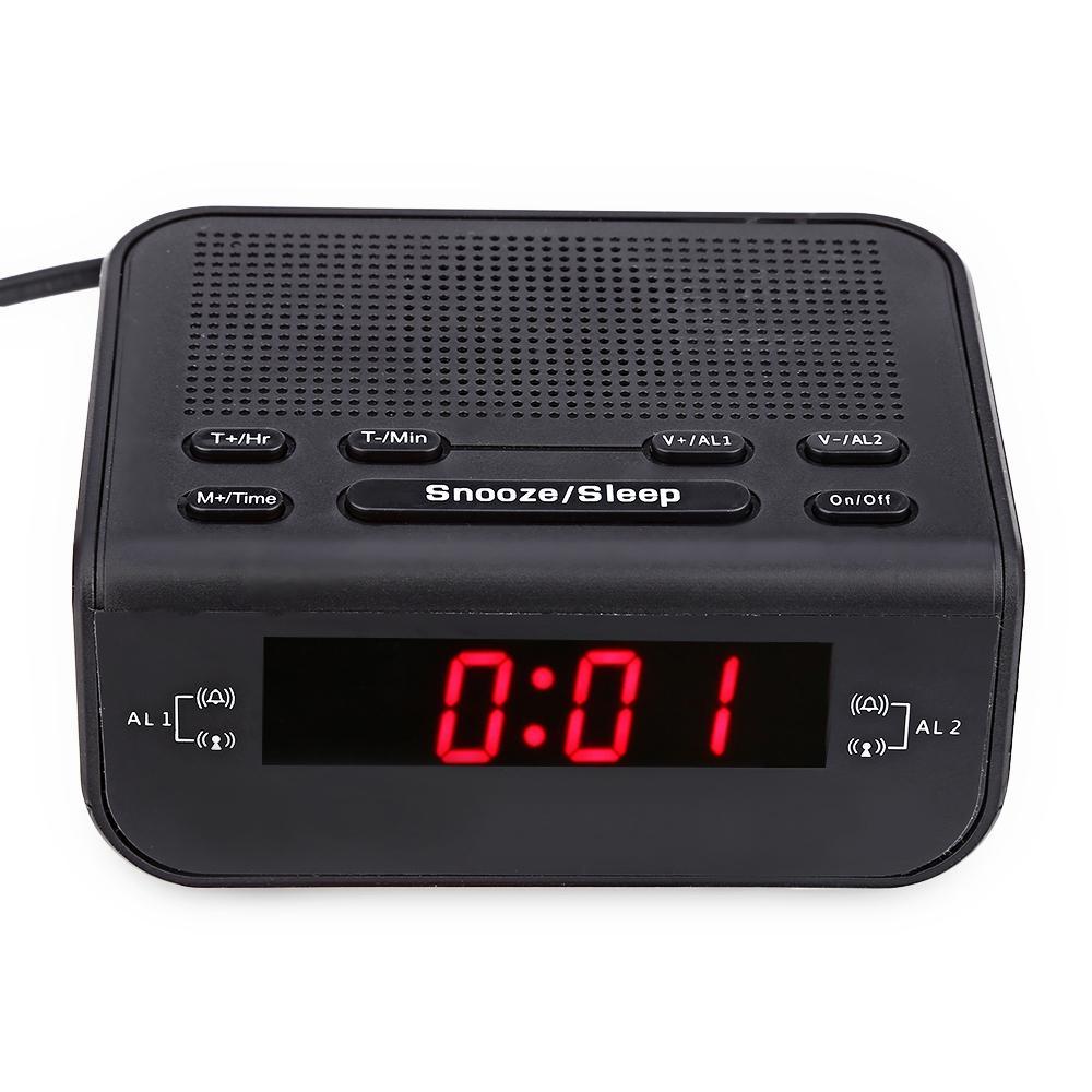 d0dbabbaa6b Compre Relógios 2017 LED Digital Despertador Rádio FM Com Alarme Duplo  Buzzer Snooze Sono Função Função Design Moderno Tempo Relógios Compactos De  Toy1234