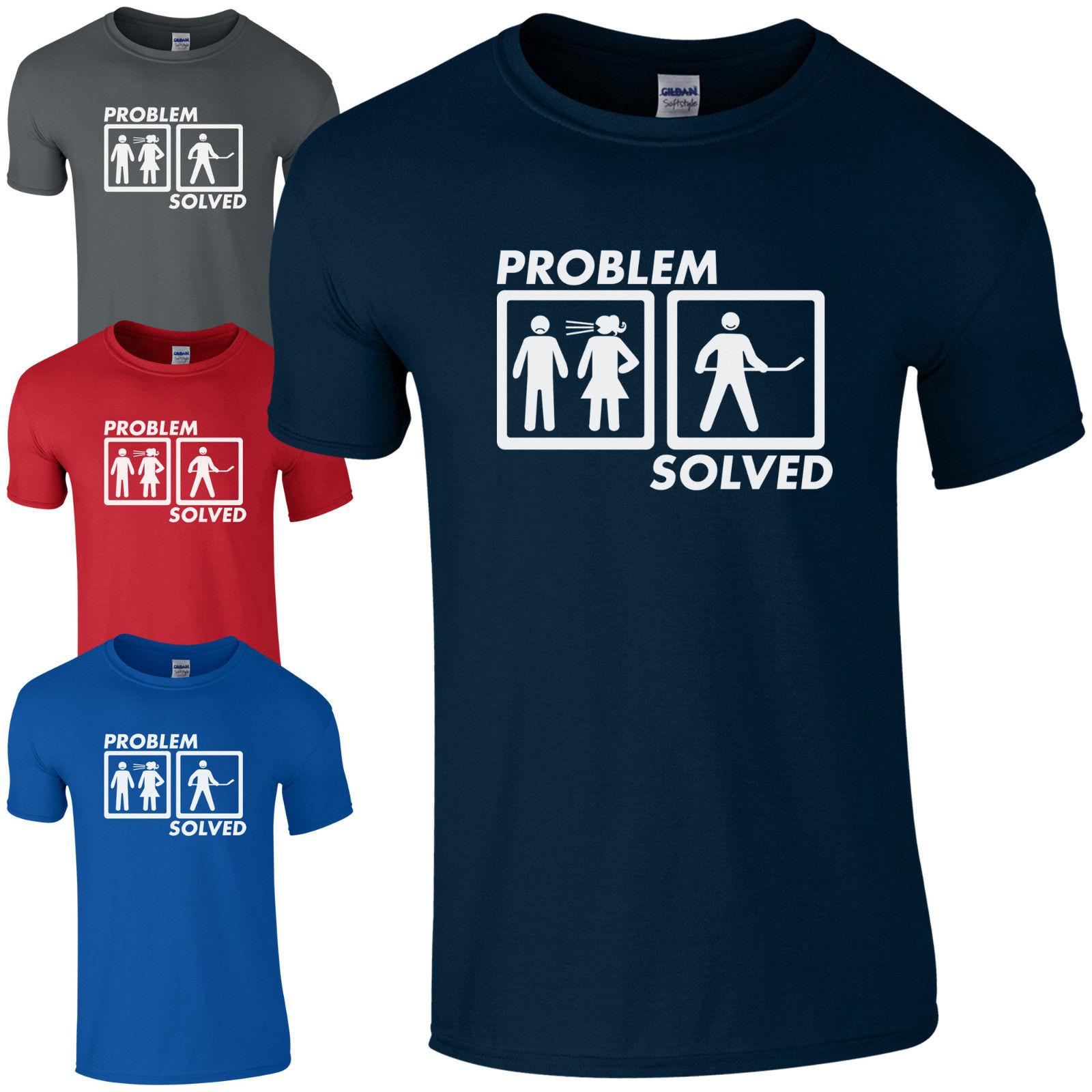 48763f2418 Problem Solved HOCKEY T Shirt Dads Marriage Fathers Day Present Mens Gift  Top Funny T Shirt Designs Make A Tee Shirt From Beidhgate08, $11.01|  DHgate.Com