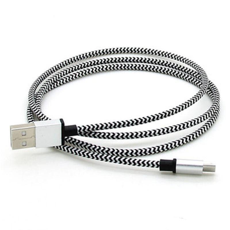 TYPE C Cable Micro USB 3Ft Nylon Trenzado USB 2.0 A Macho a Micro B Data Sync Cable cargador de carga rápida para Android Samsung S8 Sony LG